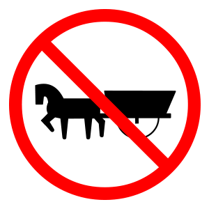 prohibido circulacion de vehiculos con traccion animal